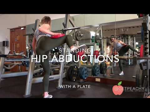 Hip Abduction Standing with Plate